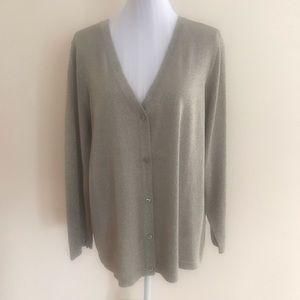 Avenue Women's Metallic Gold Cardigan Size 18/20